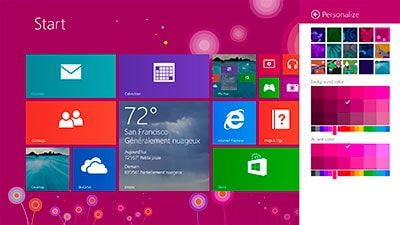 Windows 8 sur ordinateur